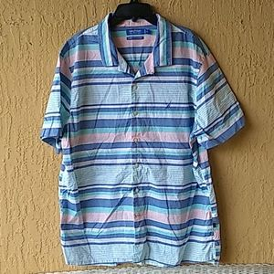 Nautica mens stripped sht. Slv shirt Sz XL